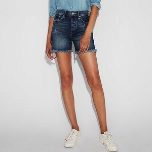 Express High Waisted Denim Shorts